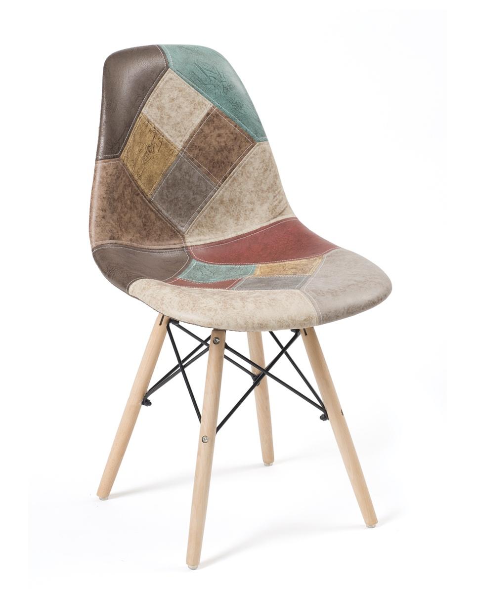 chaises patchwork scandinave design nadir lot de 2