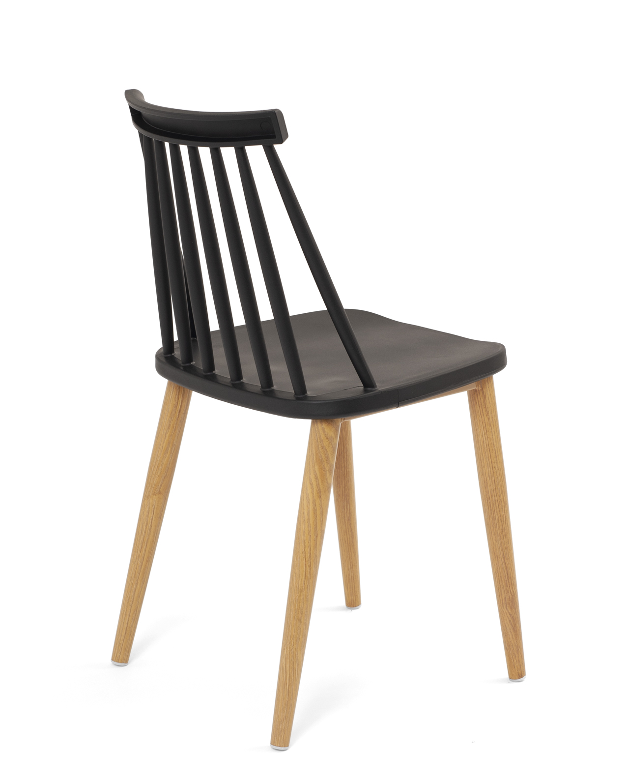 chaises cuisine bistrot pied metal style chene bao lot de 2