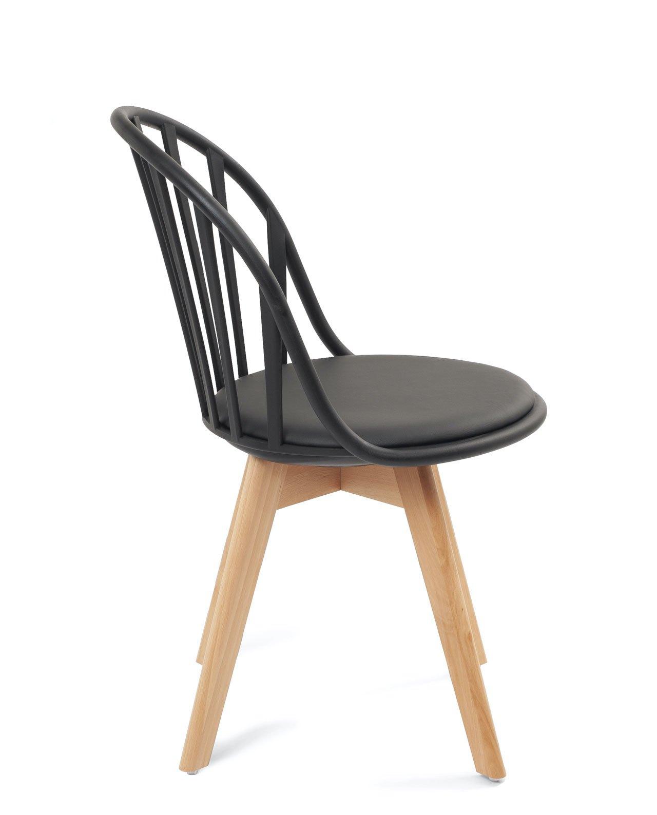 lot de 4 chaises scandinaves bistrot avec coussin bold