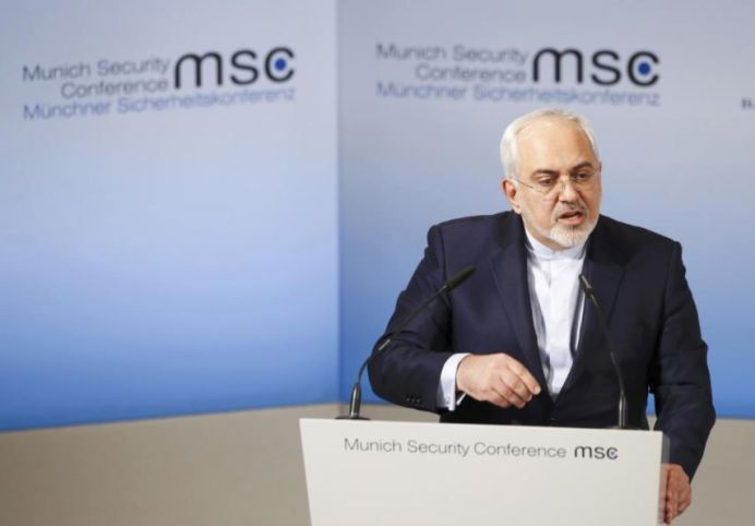Iranian Foreign Minister Mohammad Javad Zarif delivers his speech during the 53rd Munich Security Conference in Munich, Germany, February 19, 2017. REUTERS/Michaela Rehle
