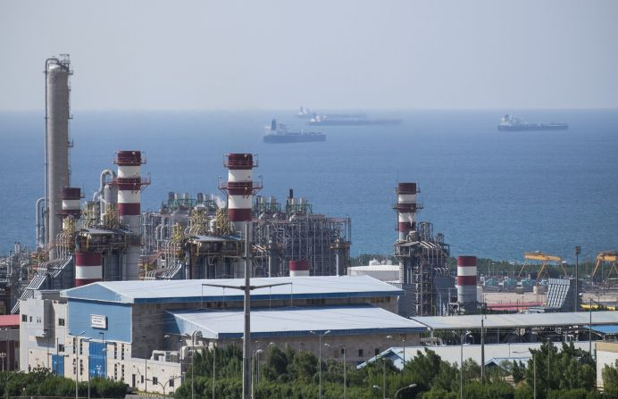 FILE PHOTO: A general view shows a unit of South Pars Gas field in Asalouyeh Seaport, north of Persian Gulf, Iran. REUTERS