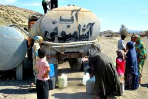 Water tanker delivery, Iran. Source: Kayhan London