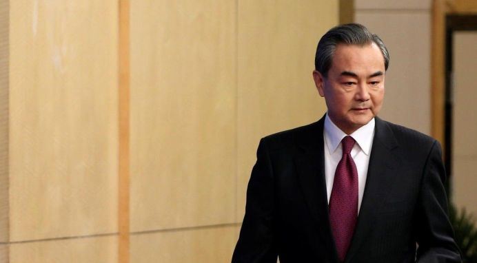 Chinese Foreign Minister Wang Yi. REUTERS/Tyrone Siu