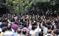 FILE PHOTO: Tehran Grand Bazaar strikes and protests to the economic situation.