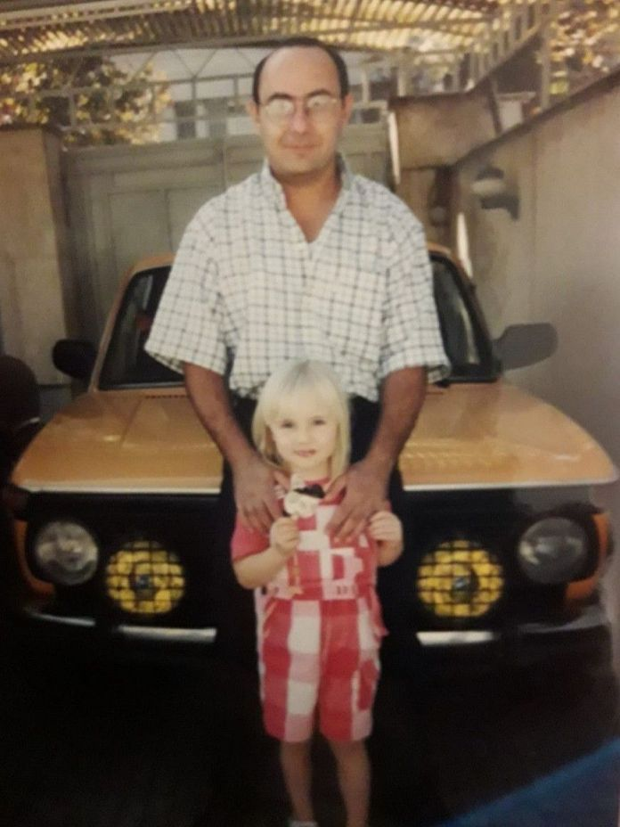 Farrah-and-her-father