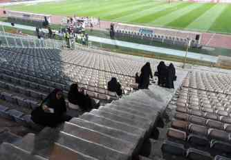 The so-called morality police female officers entering the Stadium. Source: Kayhan London