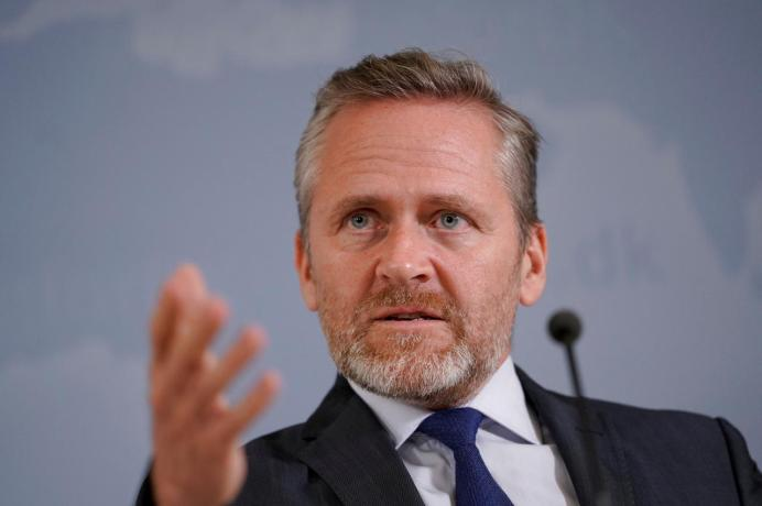 Danish Foreign Minister Anders Samuelsen speaks during a news conference in Copenhagen, Denmark, October 30, 2018. Martin Sylvest/Ritzau Scanpix/via REUTERS