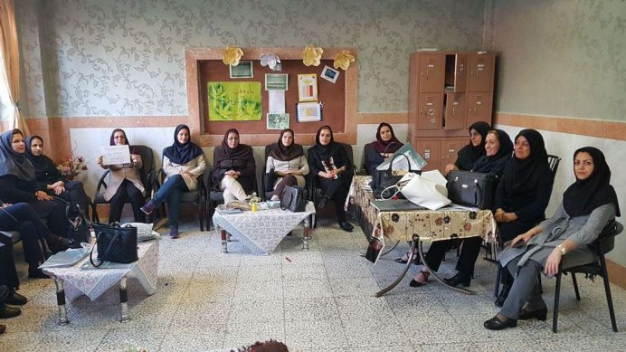 FILE PHOTO: Teachers in a school located in Karaj. Source: Kayhan London