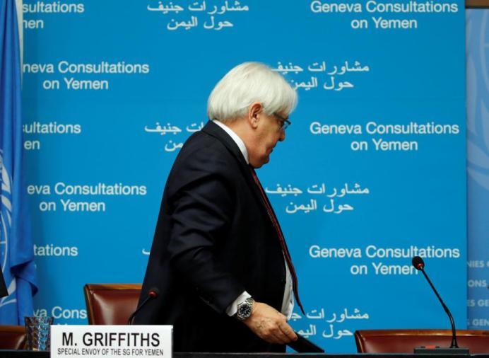 UN envoy Martin Griffiths. REUTERS/Denis Balibouse