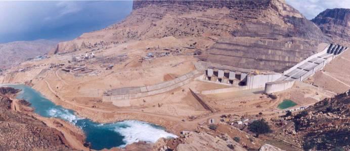 Gotvand Dam's water reservoir. Source: Kayhan London