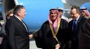 U.S. Secretary of State Mike Pompeo with Bahraini Foreign Minister Khalid bin Ahmed Al Khalifa .REUTERS