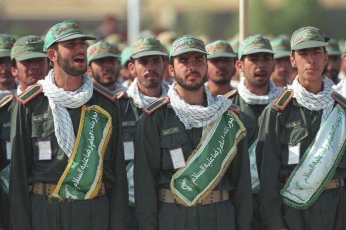 FILE PHOTO: Ali Khamenei with the Revolutionary Guard Corps and Basij - Mashhad. (CC BY 4.0) Author: Khamenei.ir. Source: Wikimedia Commons