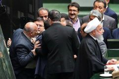 Rouhani in Iran's Majlis. Source: Kayhan London