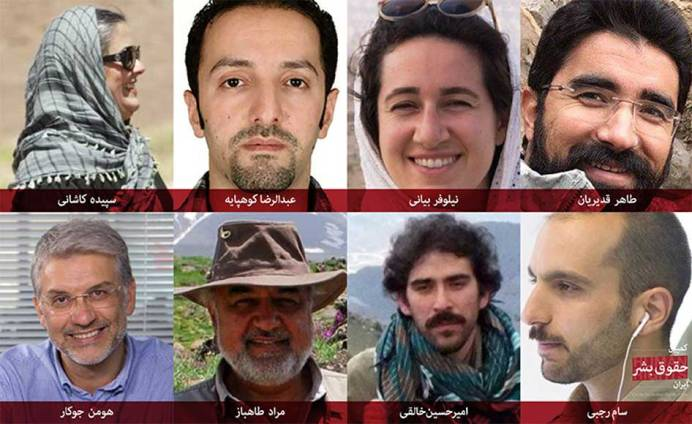 Arrested Environmentalists. Source: Kayhan London