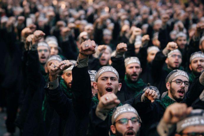 FILE PHOTO: Lebanon's Hezbollah supporters chant slogans during last day of Ashura, in Beirut, Lebanon September 20, 2018. REUTERS/Aziz Taher