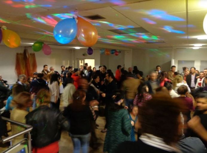 People dance as celebrate Chaharshanbe suri.