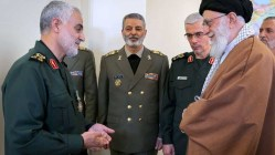 Ghasem Soleimani IRGC-QF(L) and Khamenei (R). Source: Kayhan London