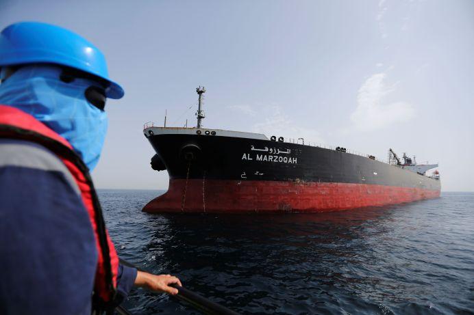 Al Marzoqah tanker is seen off the Port of Fujairah, United Arab Emirates, May 13, 2019. REUTERS/Satish Kumar