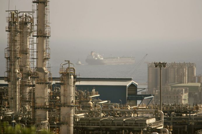 FILE PHOTO: A view of a petrochemical complex in Assaluyeh seaport at the Persian Gulf about 1400 km (870 miles) south of Tehran, Iran. REUTERS