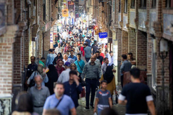 People shop in a shopping street called Grand Bazaar in downtown Tehran, Iran June 23, 2019. Nazanin Tabatabaee/REUTERS./
