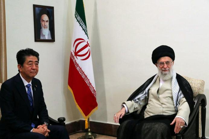 Iran's Supreme Leader Ayatollah Ali Khamenei meets with Japan's Prime Minister Shinzo Abe in Tehran, Iran June 13, 2019. Official Khamenei website/Handout via REUTERS