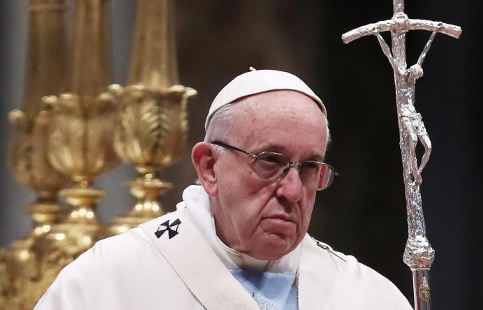 FILE PHOTO: Pope Francis leads a mass. Reuters
