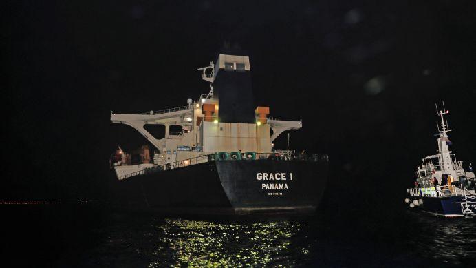 Oil supertanker Grace 1. Reuters./