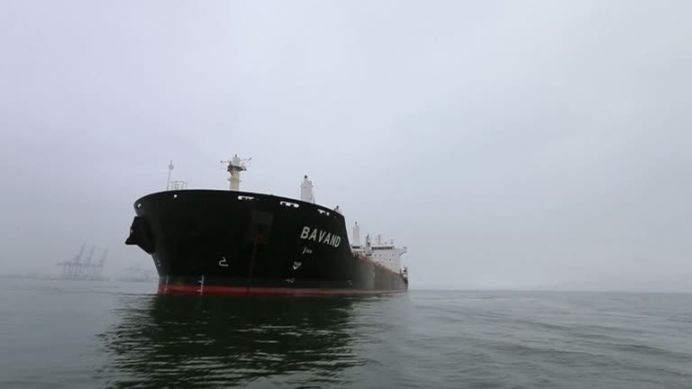 FILE PHOTO: Iran grain ships stuck in Brazil without fuel due to U.S. sanctions. Two more Iranian ships may be stranded in Brazil as sanctions bite. REUTERS./