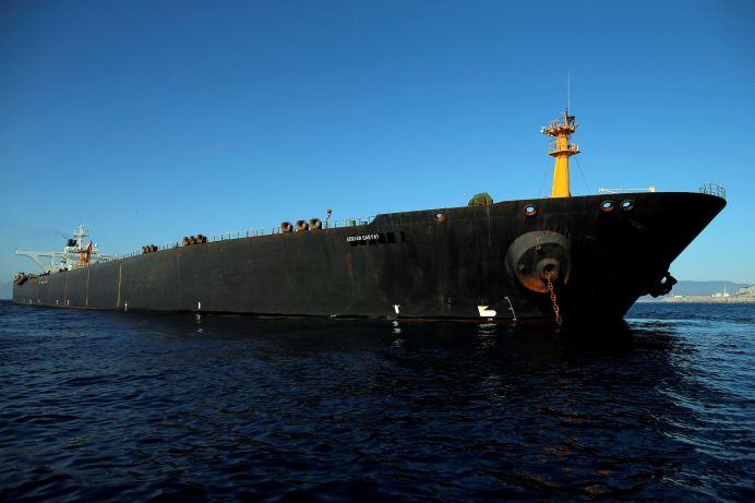Iranian oil tanker Adrian Darya 1, previously named Grace 1. REUTERS/Jon Nazca