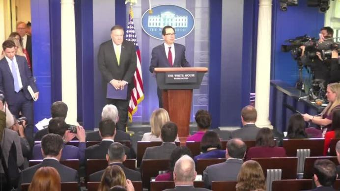 Secretary of State Mike Pompeo and Secretary of the Treasury Steve Mnuchin. REUTERS./