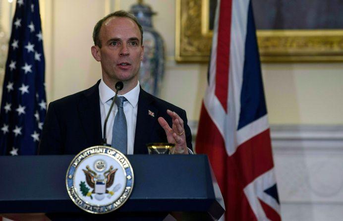 FILE PHOTO: British Foreign Secretary Dominic Raab. Nicholas Kamm, REUTERS./