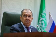 Russia's Foreign Minister Sergei Lavrov attends a news conference following talks with Saudi Arabia's Foreign Minister Prince Faisal bin Farhan Al Saud in Riyadh, Saudi Arabia March 10, 2021. Russian Foreign Ministry/Handout via REUTERS. MANDATORY CREDIT.