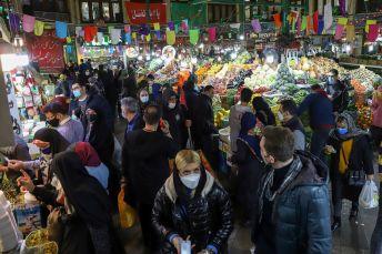 People shop at the Tajrish Bazaar, ahead of Nowruz, the Iranian New Year, amid the coronavirus disease (COVID-19) pandemic, in Tehran, Iran March 17, 2021. REUTERS./