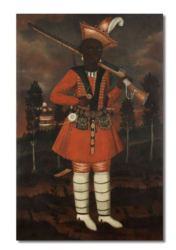 A-rare-Safavid-oil-painting-of-an-African-soldier-Persia-probably-Isfahan-late-17thearly-18th-C-1