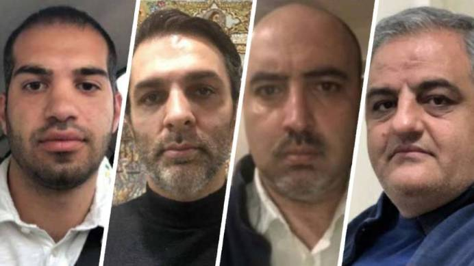 The fourIranians charged in the case. KAYHAN LONDON./