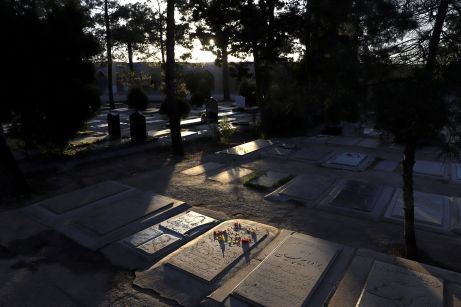 A general view of a cemetery, where dead people and coronavirus disease (COVID-19) victims are buried, in south of Tehran. REUTERS./