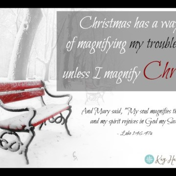 This Christmas Magnify Christ