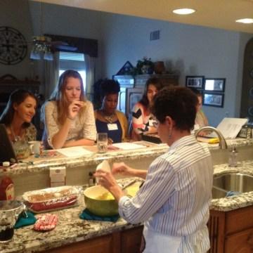 Mentor Demonstrating in Kitchen