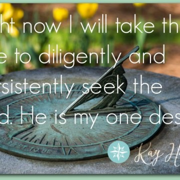 I will seek the Lord.