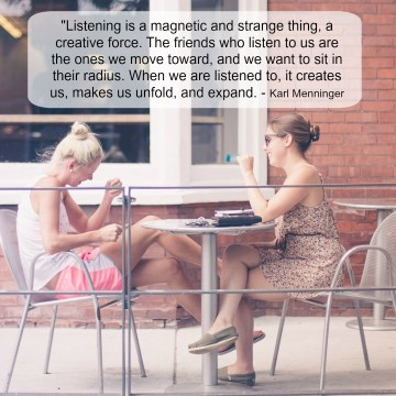 Friends Listening - Graphic