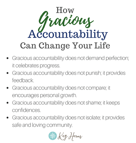 Graphic - Gracious Accountability does not...