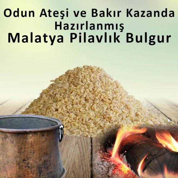 Odun Ateşinde Bakır Kazanda Pişirilmiş Pilavlık Malatya Bulguru