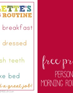 Diy morning routine chart for kids free printable personalized also rh kaylaaimee