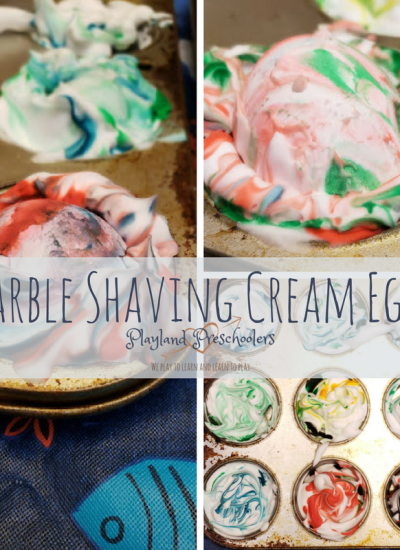 Marble Shaving Cream Egg Coloring
