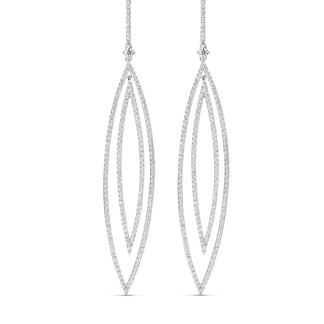 silver earrings, diamond earrings