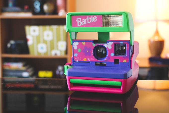 barbie polaroid, polaroid 600