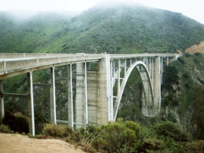 Bixby Bridge, film, california coast
