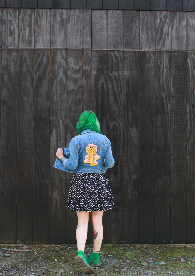 green hair, palladium boots, what I wore, outfit post