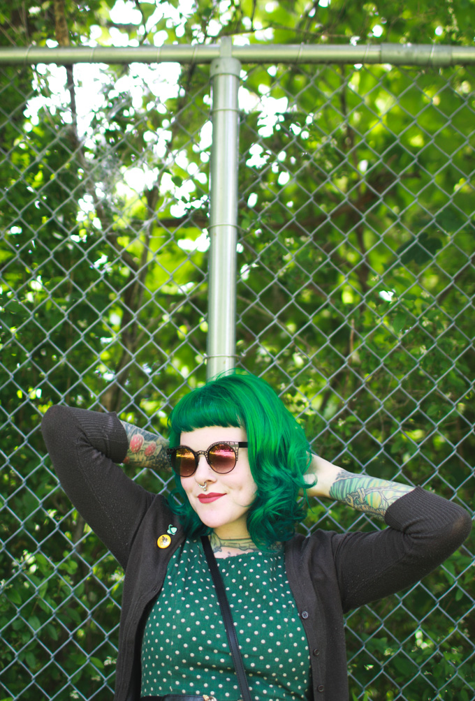 green hair, colourpop, kaylah doolan, cleveland, fashion blog, bumble