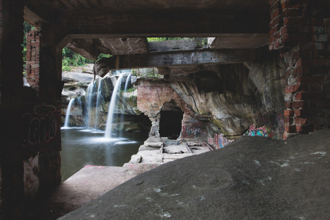 Elyria, Ohio, Waterfalls, abandoned